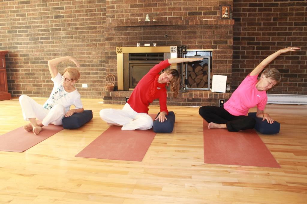 yoga doux étir lat assis